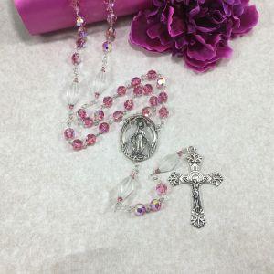 Swarovski Crystal Pink Rosary