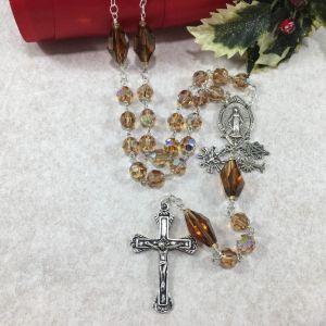 Swarovski Crystal Champagne Rosary