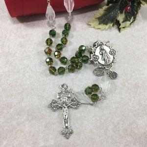 8mm Greens Swarovski Crystal Rosary