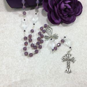 Swarovski Crystal Grape Opal Rosary