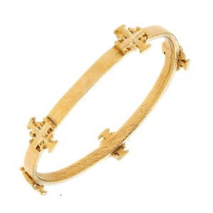 Cross Medal Bangle
