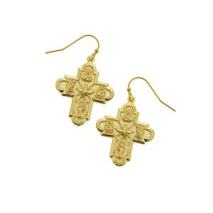 4 Way GoldPlated Earrings