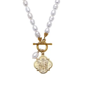 Holy Family Pearl Necklace