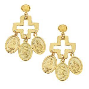 Saints and Cross Earrings