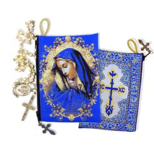 Virgin of Sorrows Tapestry Pouch