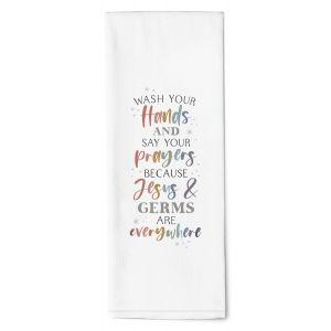 Jesus & Germs Tea Towel