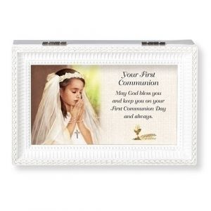 May God Bless You Music Box-Girls First Communion