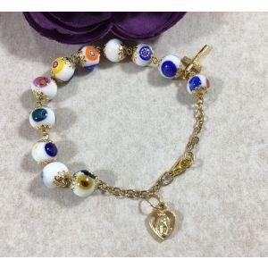 Murano Glass Bracelet - White