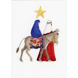 Mary & Joseph by Edberg Christmas Card