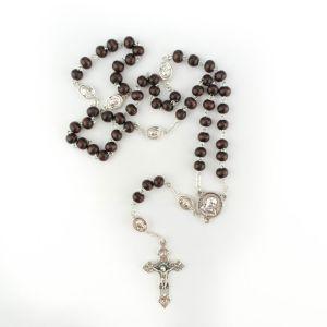 Padre Pio Wood Rosary