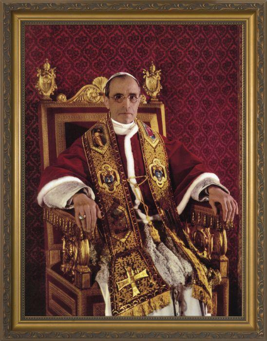 Venerable Pope Pius Xii Gold Framed Art