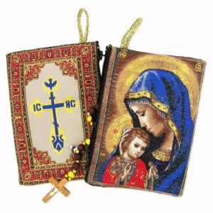 Madonna and Child Tapestry Pouch