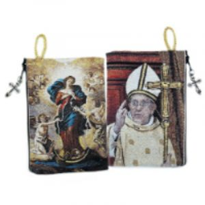 Undoer of Knots and Pope Francis Rosary Pouch