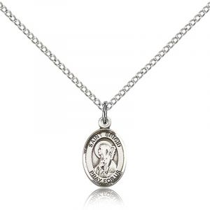 St Brigid of Ireland Sterling Medal Necklace 18''