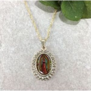 ACM10 Our Lady of Guadalupe Necklace 18""