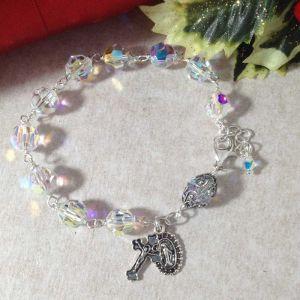 Swarovski Sterling Rosary Bracelet