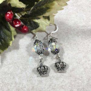 Swarovski Crown Earrings