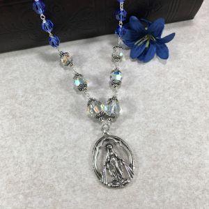 ACM26 Sapphire Swarovski Crystal Necklace
