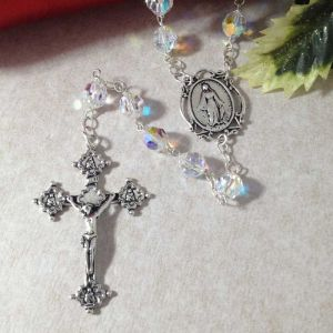 8mm Swarovski Round Rosary