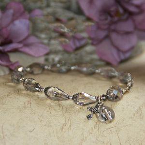 Miraculous Teardrop Crystal Rosary Bracelet
