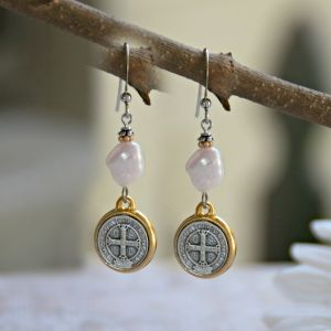 St Benedict Freshwater Pearl Earrings