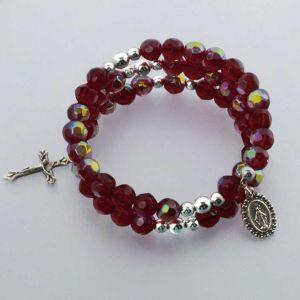 Birthstone Wrap Rosary Bracelet