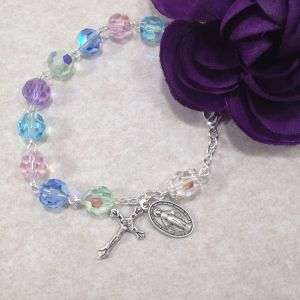 Multicolor Pastel Rosary Bracelet
