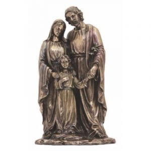 Holy Family Bronze Statue 10""