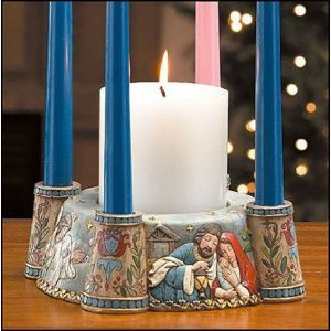 Holy Family Advent Candle Holder