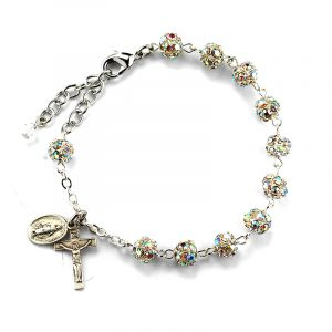 6mm Crystal Rosary Bracelet