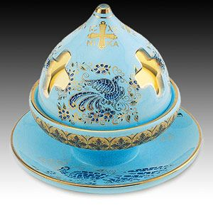 Blue Byzantine Incense Burner