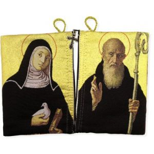 St. Benedict/ Scholastica Rosary Pouch