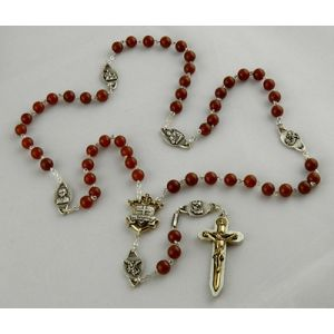 8mm Agate Warrior Rosary