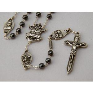 6mm Hematite Warrior Rosary