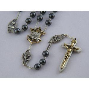 8mm Hematite Warrior Rosary