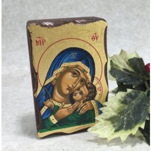 ACM3 Blue Madonna Greek icon
