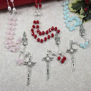 8mm Our Lady of Fatima Crystal Rosary