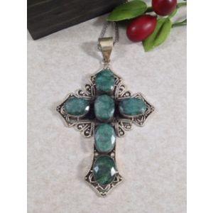 Large Emerald Cross