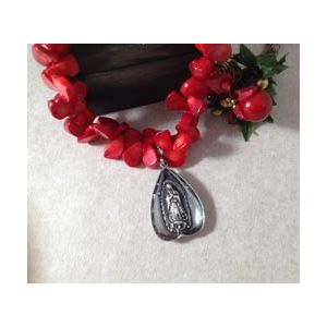 Coral Guadalupe Necklace