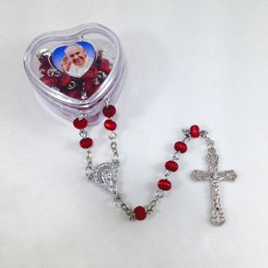 Pope Francis Heart Rose Rosary