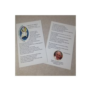 Year Of Mercy Large Prayercard