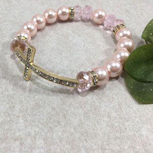 ACM57 12mm Side Cross Bracelet - Pink