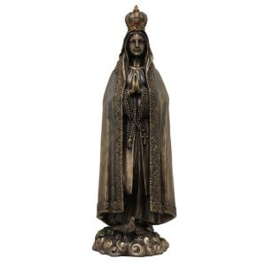 """Our Lady of Fatima Bronzed 10"""""""