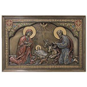 NativityBronzedPlaque
