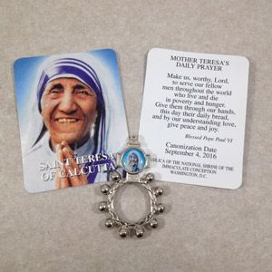 Mother Teresa Rosary Ring