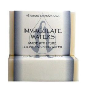 ACM55 Lourdes Water Bar Soap- Lavender
