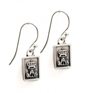 St Benedict Scapular Earrings (Silver)