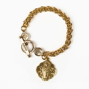Queen of Heaven Goldtone Bracelet