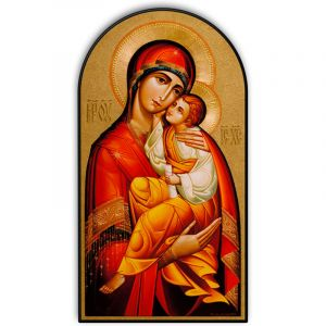 Byzantine Madonna Dome Plaque