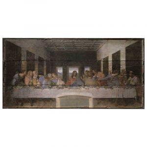 Last Supper Rustic Wood 8x16